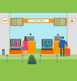 cartoon airport check in vector image