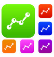 chart statistics line set collection vector image vector image