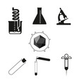 chemical test tubes icons vector image vector image