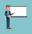 color background executive man in work vector image vector image