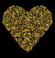 Decorated golden heart vector image