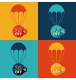 Discount parachute set vector image vector image