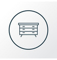 dresser icon line symbol premium quality isolated vector image