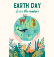 earth day template for card poster vector image