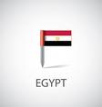egypt flag pin vector image vector image
