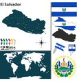 El Salvador map world vector image