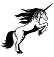 fantasy sign unicorn vector image