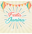 festa junina flag fireworks gray background vector image vector image