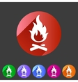 Fire icon flat web sign symbol logo label vector image vector image