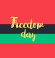 freedom day with flag vector image vector image