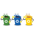 Funny Recycling Boxes vector image vector image