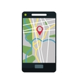 Gps navigator and location design vector image vector image