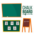 green chalk board school blackboard vector image