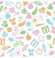 health lifestyle seamless pattern vector image vector image