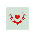 heard around big heart in square vector image