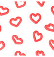 heart shape 3d symbol seamless pattern for love vector image