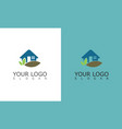 home nature logo vector image