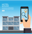 hotel booking and search online vector image vector image