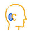human ear icon outline vector image vector image