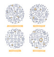 internet security doodle vector image