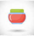jam in jar flat icon vector image