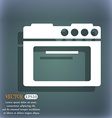 kitchen stove icon On the blue-green abstract vector image