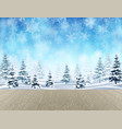 landscape with winter forest vector image vector image