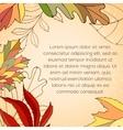 Leaves invitation card vector image