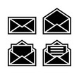 letter envelope symbols icons black outline set 2 vector image vector image