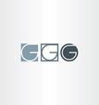 letter g icons set elements design vector image