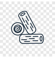 log concept linear icon isolated on transparent vector image