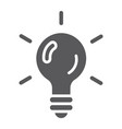 logic game glyph icon game and play light bulb vector image