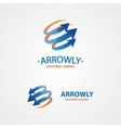 logo design element Arrow scope circle vector image