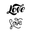 love modern lettering isolated on white background vector image vector image