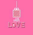 love poster background present box on pink and vector image