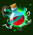 magic potion poison bottle composition vector image vector image