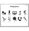 medical icons solid pack vector image