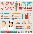 Medical Infographic set vector image