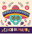 mexican holiday 5 may cinco de mayo vector image vector image
