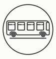 minimal outline bus icon vector image vector image