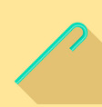 mint green drink straw icon flat style vector image