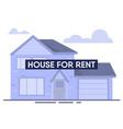 modern house for rent flat cartoon advertisement vector image vector image