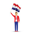 netherlands flag waving man and woman vector image vector image