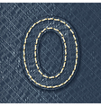 Number 0 made from jeans fabric vector image vector image