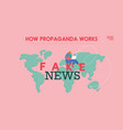 people characters read fake news concept vector image