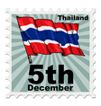 post stamp of national day of Thailand vector image vector image