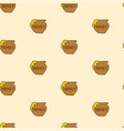 pot of honey seamless pattern vector image vector image