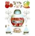 Products for pickled tomato vector image