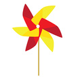 Red and yellow windmill toy vector image