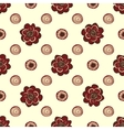 Red flowers and circles pattern natural seamless vector image